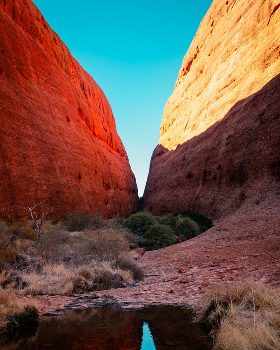 Petermann Gorge at Uluru in Australia's Northern Territory