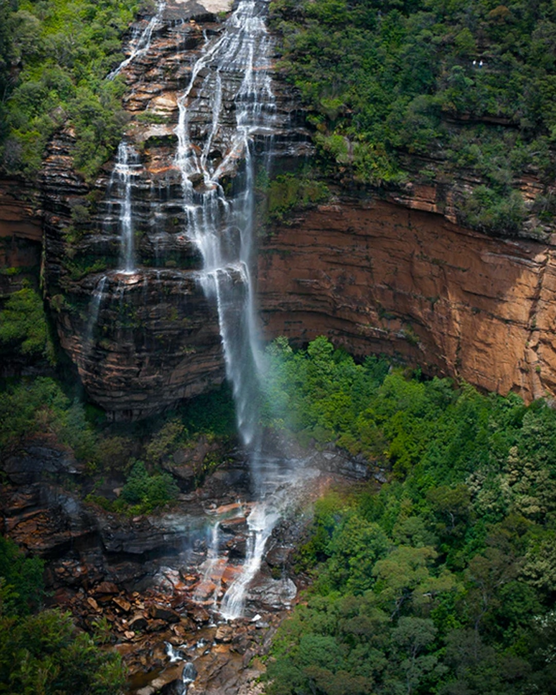 top down view of NSW's biggest waterfall — wentworth falls